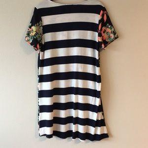 Dresses - EUC | Floral & Navy/White Striped Summer Dress